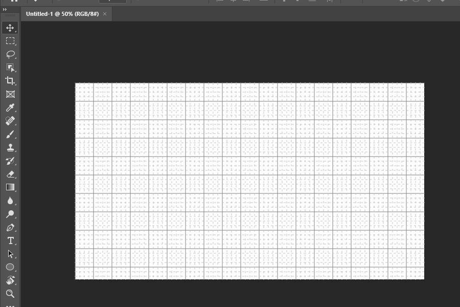 Default grid in Photoshop