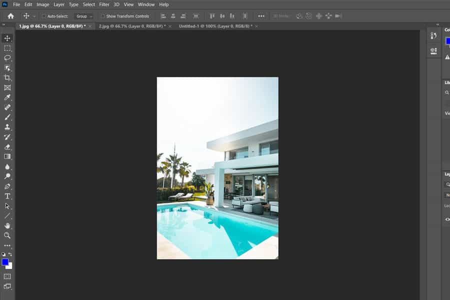 Opening two images in Photoshop at the same time