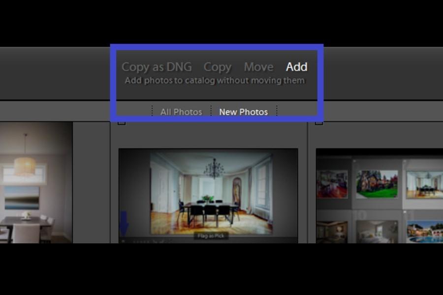 Lightroom image transfer options