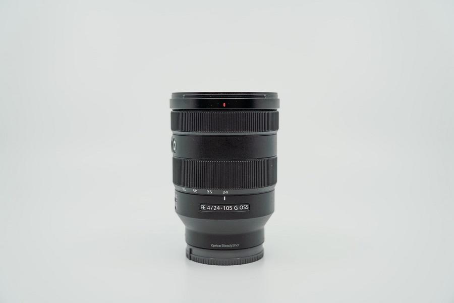 Sony lens against gray background