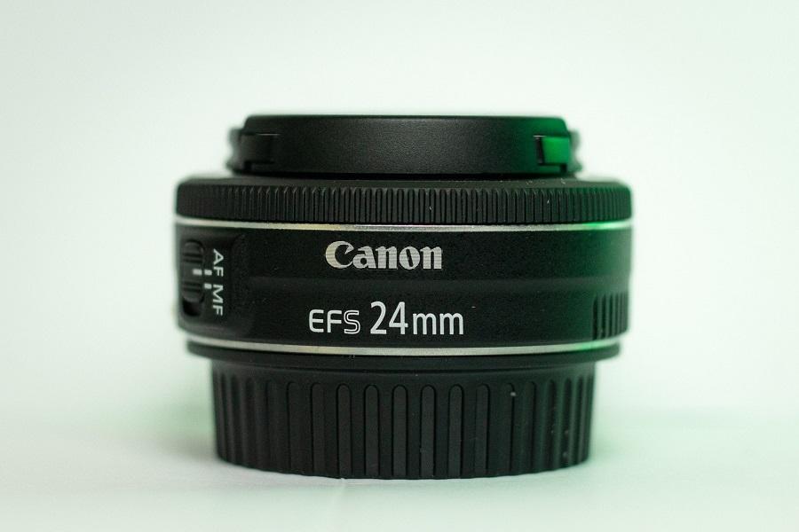 A Canon 24mm lens