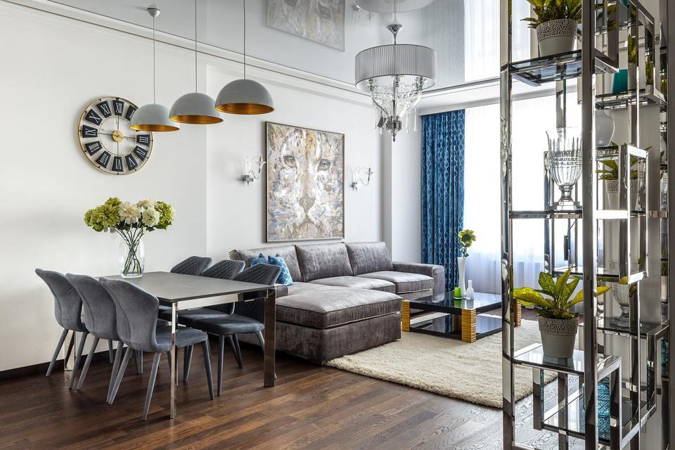 Wide open space studio living interior