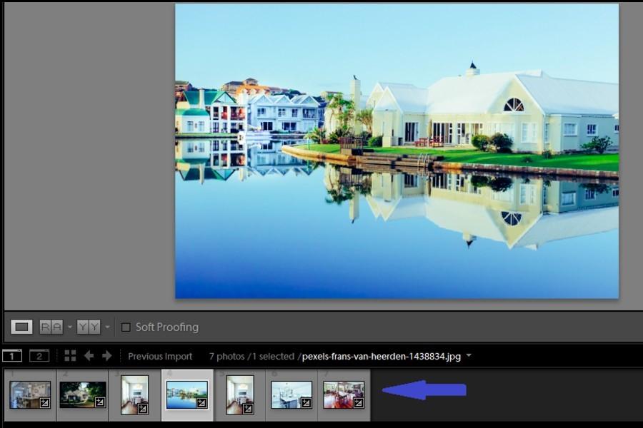 Selecting multiple images in filmstrip view before applying presets in Lightroom