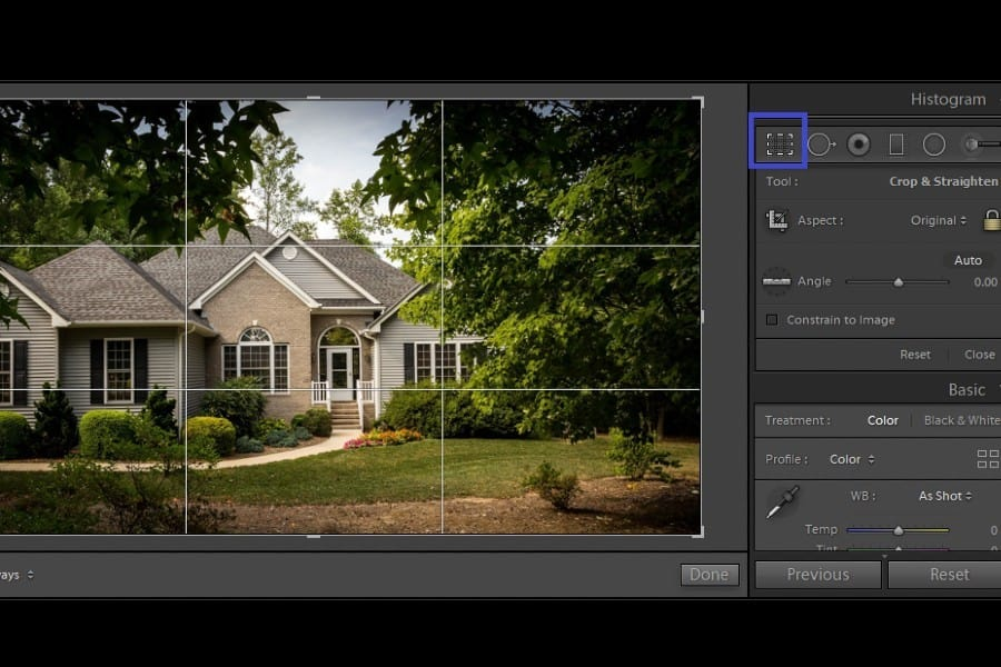 Cropping photos for layering in Lightroom