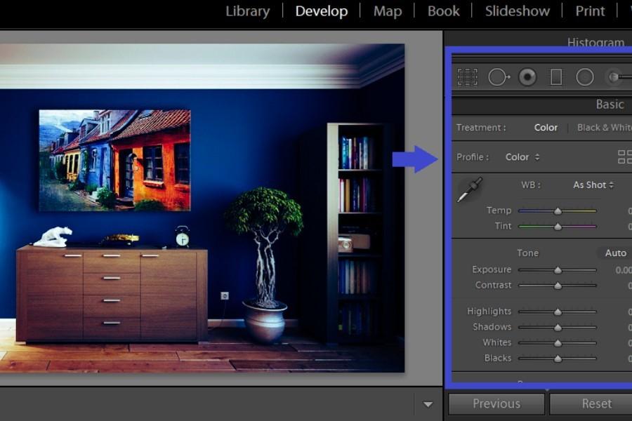 Adjusting sliders in Lightroom Basic Panel