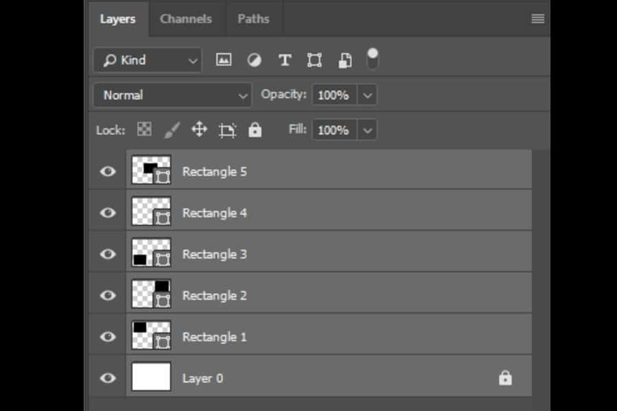 Using keyboard shortcuts to select all layers