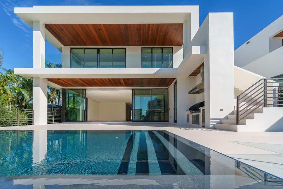 Exterior shot of modern villa